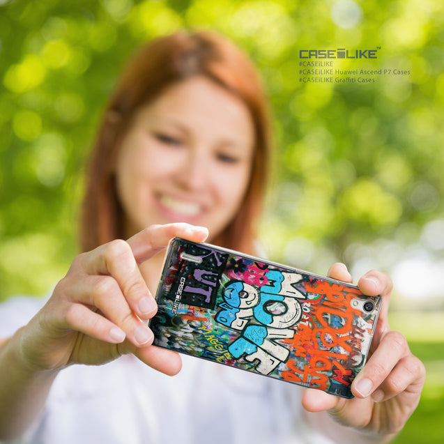 Share - CASEiLIKE Huawei Ascend P7 back cover Graffiti 2722