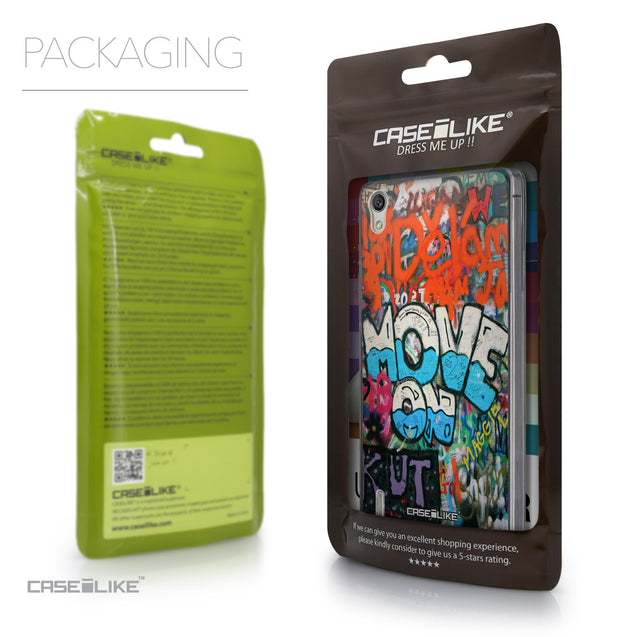 Packaging - CASEiLIKE Huawei Ascend P7 back cover Graffiti 2722