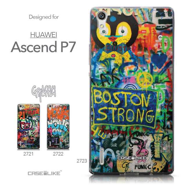 Collection - CASEiLIKE Huawei Ascend P7 back cover Graffiti 2723