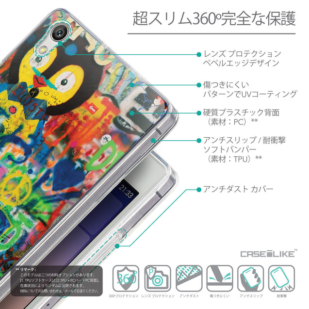 Details in Japanese - CASEiLIKE Huawei Ascend P7 back cover Graffiti 2723