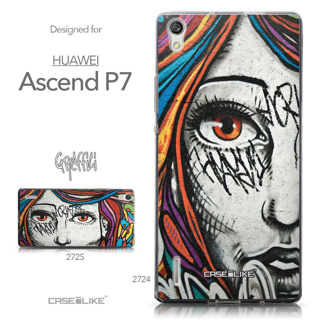Collection - CASEiLIKE Huawei Ascend P7 back cover Graffiti Girl 2724