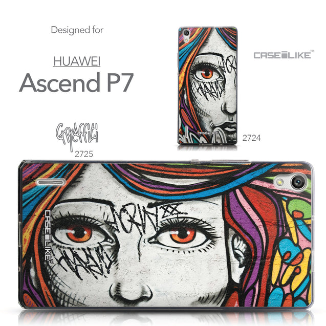 Collection - CASEiLIKE Huawei Ascend P7 back cover Graffiti Girl 2725