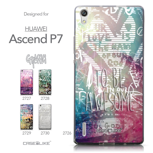 Collection - CASEiLIKE Huawei Ascend P7 back cover Graffiti 2726
