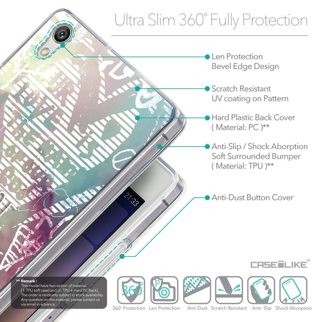 Details in English - CASEiLIKE Huawei Ascend P7 back cover Graffiti 2726