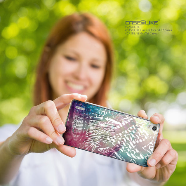 Share - CASEiLIKE Huawei Ascend P7 back cover Graffiti 2726