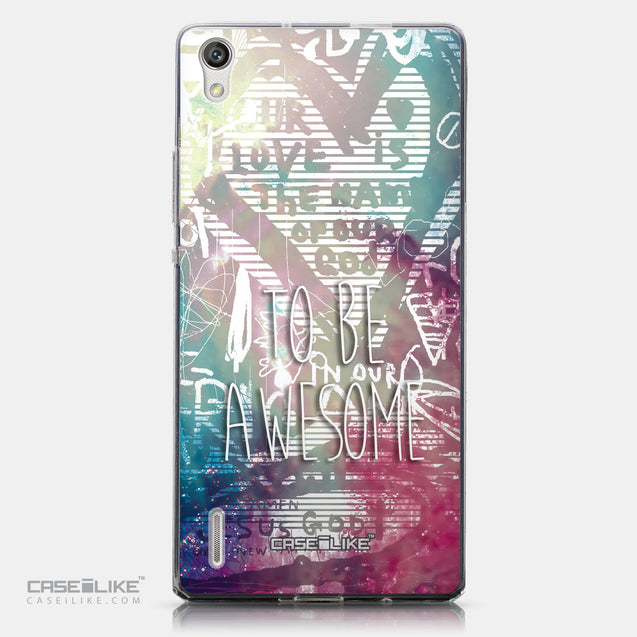 CASEiLIKE Huawei Ascend P7 back cover Graffiti 2726