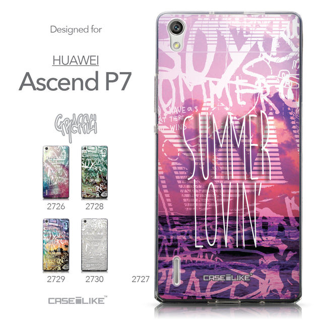 Collection - CASEiLIKE Huawei Ascend P7 back cover Graffiti 2727