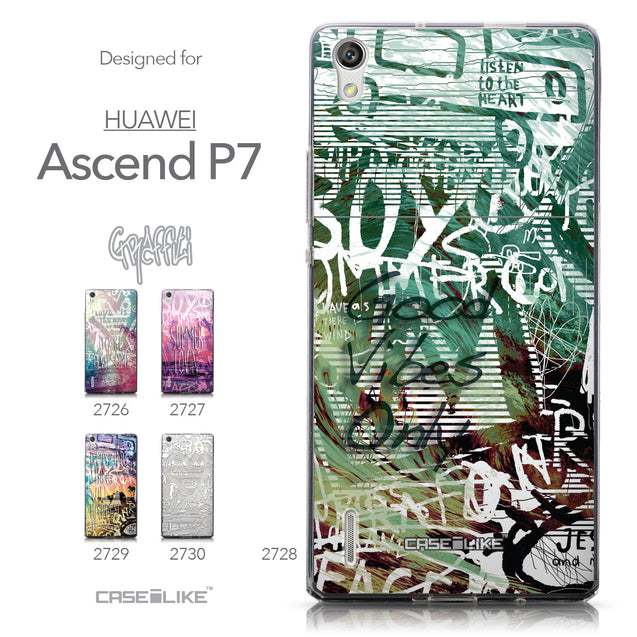 Collection - CASEiLIKE Huawei Ascend P7 back cover Graffiti 2728