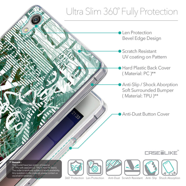 Details in English - CASEiLIKE Huawei Ascend P7 back cover Graffiti 2728