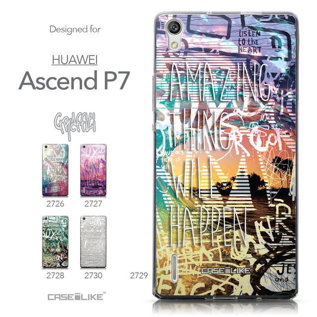Collection - CASEiLIKE Huawei Ascend P7 back cover Graffiti 2729