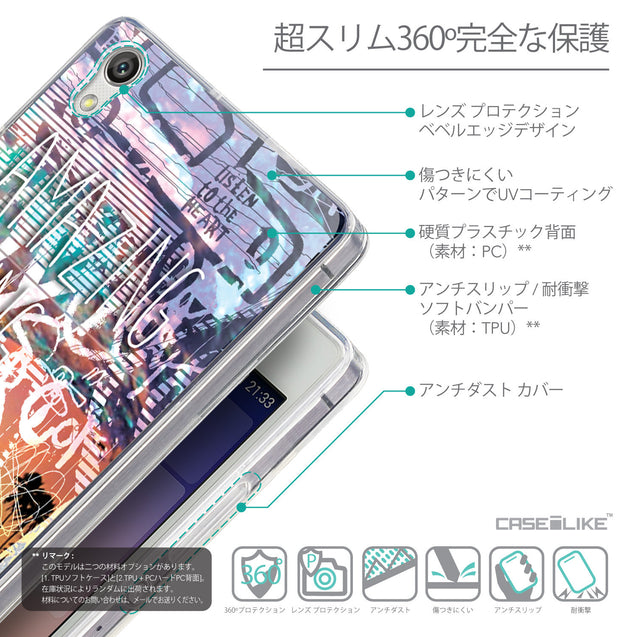 Details in Japanese - CASEiLIKE Huawei Ascend P7 back cover Graffiti 2729