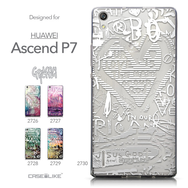 Collection - CASEiLIKE Huawei Ascend P7 back cover Graffiti 2730