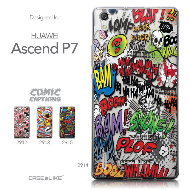 Collection - CASEiLIKE Huawei Ascend P7 back cover Comic Captions 2914