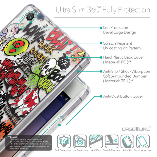 Details in English - CASEiLIKE Huawei Ascend P7 back cover Comic Captions 2914