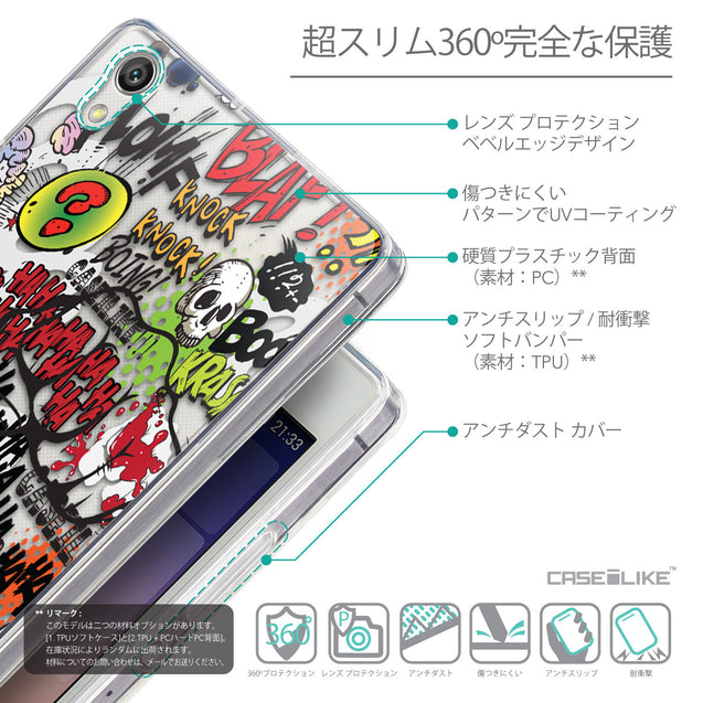 Details in Japanese - CASEiLIKE Huawei Ascend P7 back cover Comic Captions 2914
