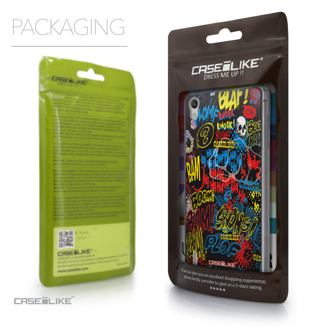 Packaging - CASEiLIKE Huawei Ascend P7 back cover Comic Captions Black 2915