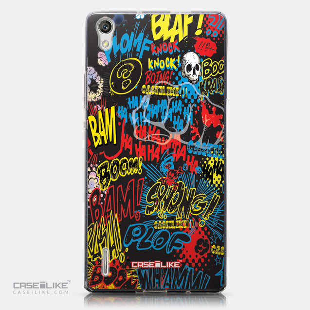 CASEiLIKE Huawei Ascend P7 back cover Comic Captions Black 2915