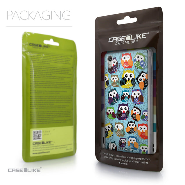 Packaging - CASEiLIKE Huawei Ascend P7 back cover Owl Graphic Design 3312