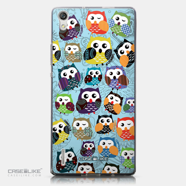 CASEiLIKE Huawei Ascend P7 back cover Owl Graphic Design 3312