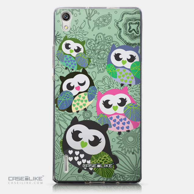 CASEiLIKE Huawei Ascend P7 back cover Owl Graphic Design 3313