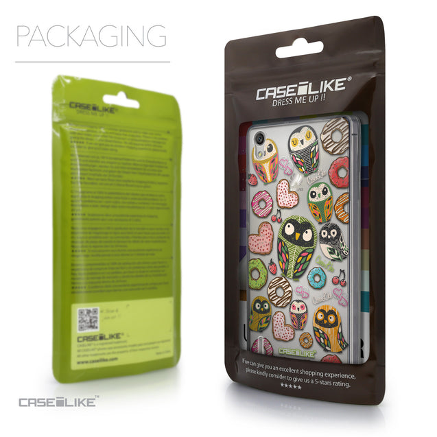 Packaging - CASEiLIKE Huawei Ascend P7 back cover Owl Graphic Design 3315