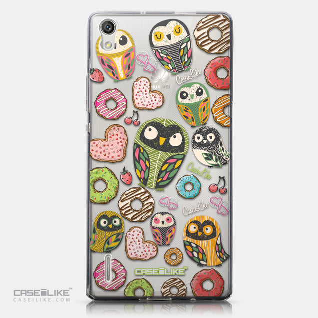 CASEiLIKE Huawei Ascend P7 back cover Owl Graphic Design 3315