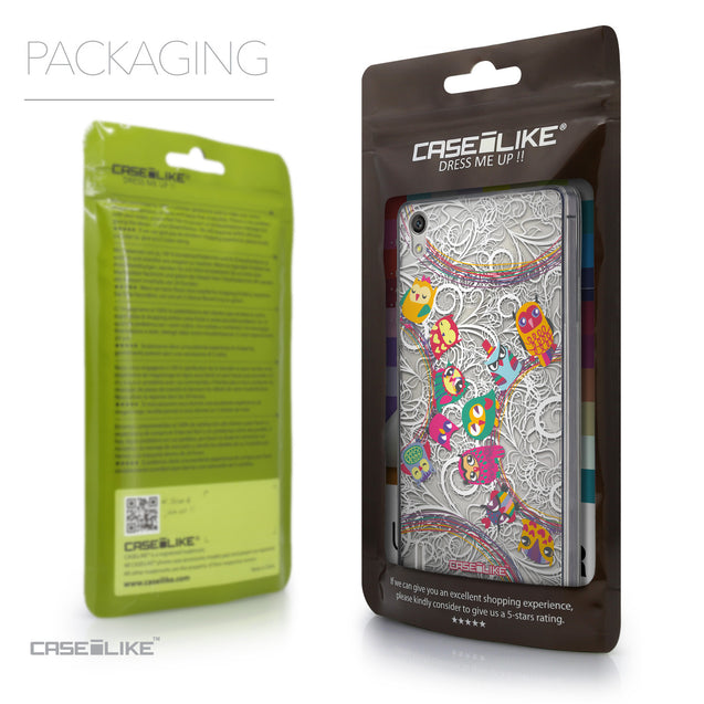 Packaging - CASEiLIKE Huawei Ascend P7 back cover Owl Graphic Design 3316