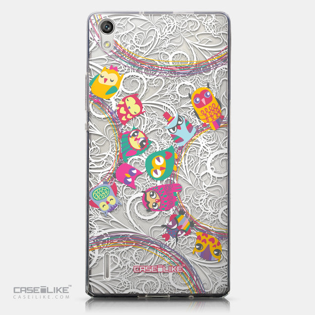 CASEiLIKE Huawei Ascend P7 back cover Owl Graphic Design 3316