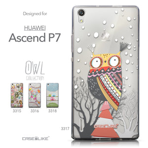 Collection - CASEiLIKE Huawei Ascend P7 back cover Owl Graphic Design 3317