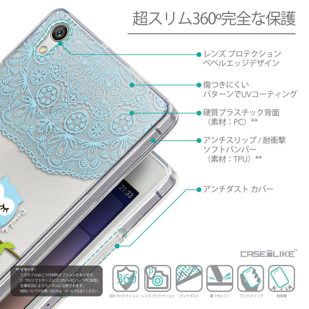 Details in Japanese - CASEiLIKE Huawei Ascend P7 back cover Owl Graphic Design 3318