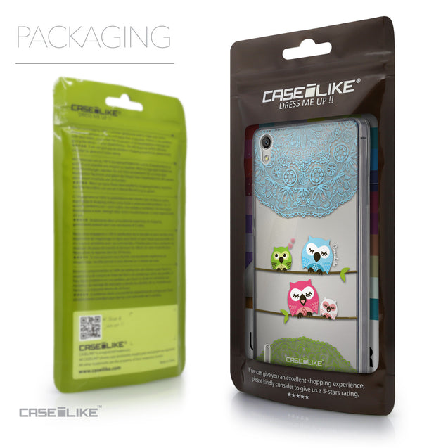Packaging - CASEiLIKE Huawei Ascend P7 back cover Owl Graphic Design 3318