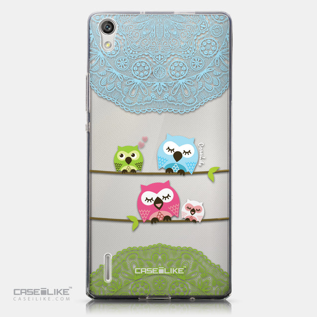 CASEiLIKE Huawei Ascend P7 back cover Owl Graphic Design 3318