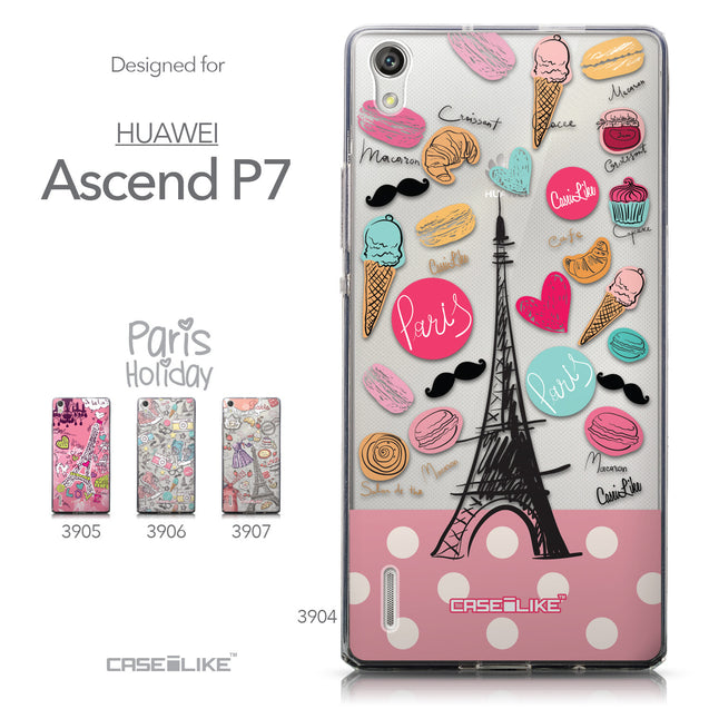Collection - CASEiLIKE Huawei Ascend P7 back cover Paris Holiday 3904