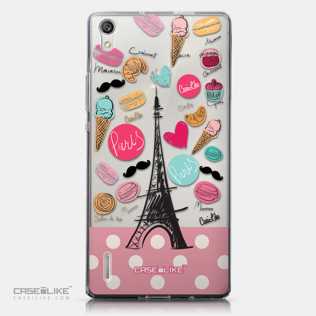 CASEiLIKE Huawei Ascend P7 back cover Paris Holiday 3904