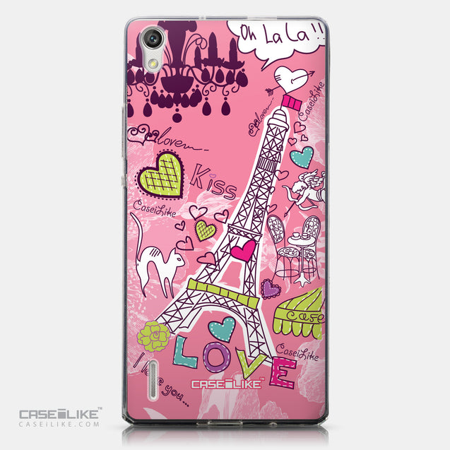 CASEiLIKE Huawei Ascend P7 back cover Paris Holiday 3905