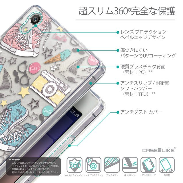 Details in Japanese - CASEiLIKE Huawei Ascend P7 back cover Paris Holiday 3906