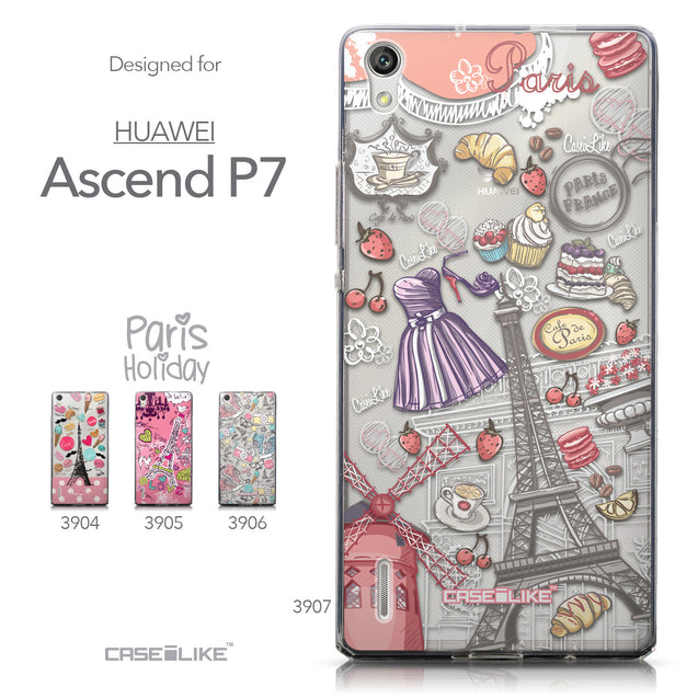 Collection - CASEiLIKE Huawei Ascend P7 back cover Paris Holiday 3907