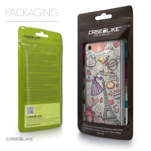 Packaging - CASEiLIKE Huawei Ascend P7 back cover Paris Holiday 3907
