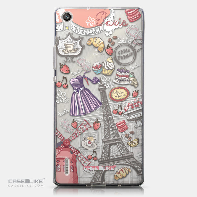 CASEiLIKE Huawei Ascend P7 back cover Paris Holiday 3907