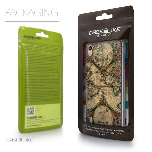 Packaging - CASEiLIKE Huawei Ascend P7 back cover World Map Vintage 4607