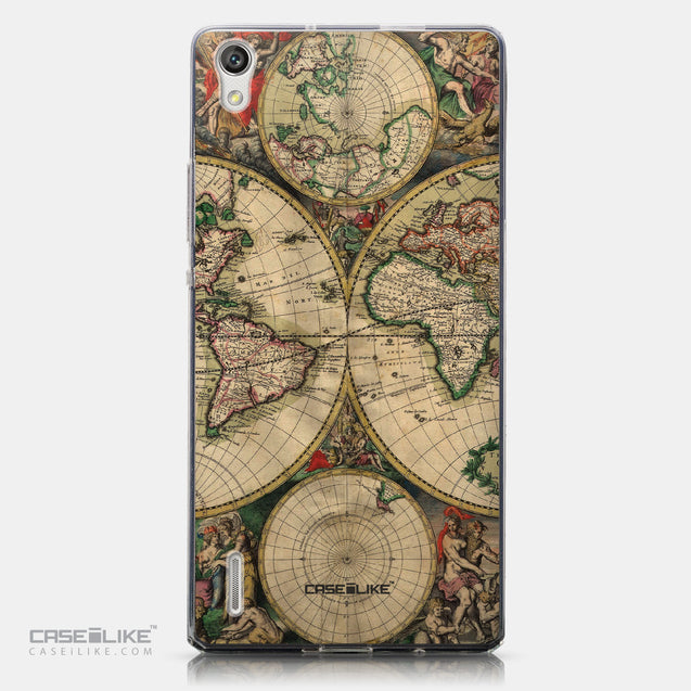 CASEiLIKE Huawei Ascend P7 back cover World Map Vintage 4607