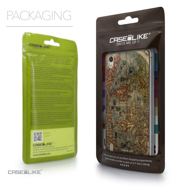 Packaging - CASEiLIKE Huawei Ascend P7 back cover World Map Vintage 4608