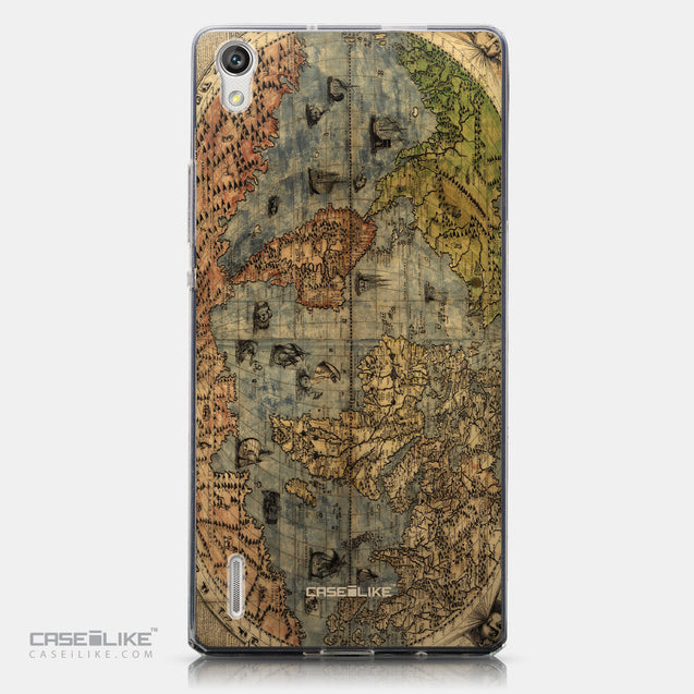 CASEiLIKE Huawei Ascend P7 back cover World Map Vintage 4608