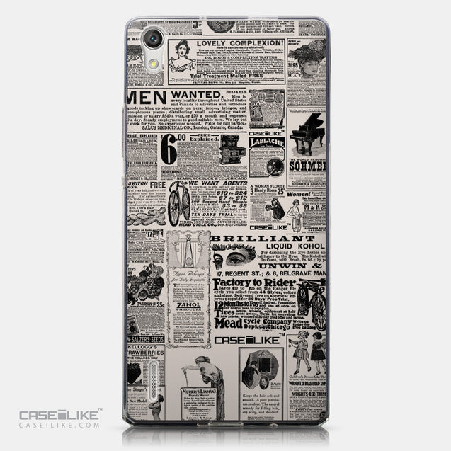 CASEiLIKE Huawei Ascend P7 back cover Vintage Newspaper Advertising 4818