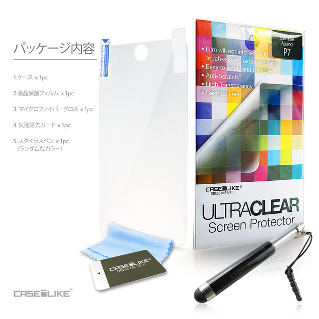 CASEiLIKE FREE Stylus and Screen Protector included for Huawei Ascend P7 back cover in Japanese