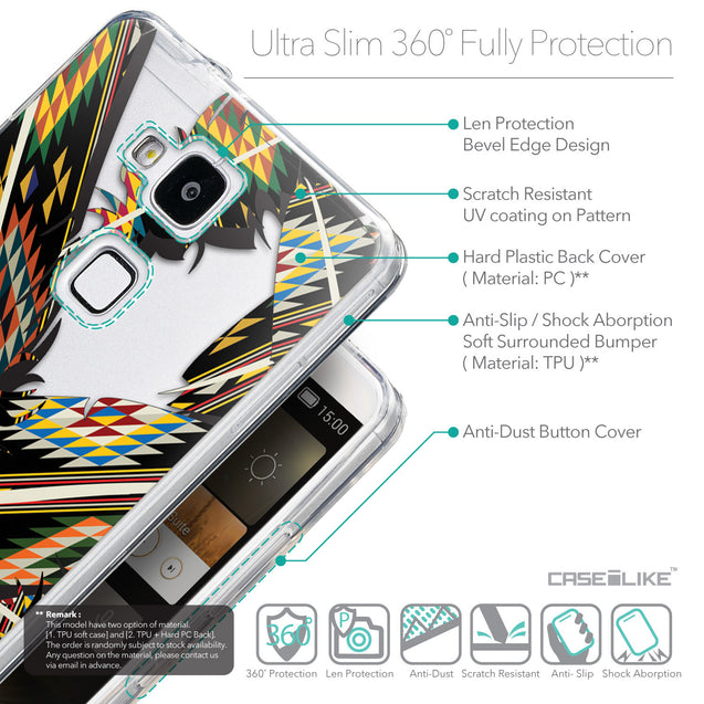 Details in English - CASEiLIKE Huawei Ascend Mate 7 back cover Indian Tribal Theme Pattern 2053