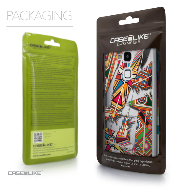Packaging - CASEiLIKE Huawei Ascend Mate 7 back cover Indian Tribal Theme Pattern 2054