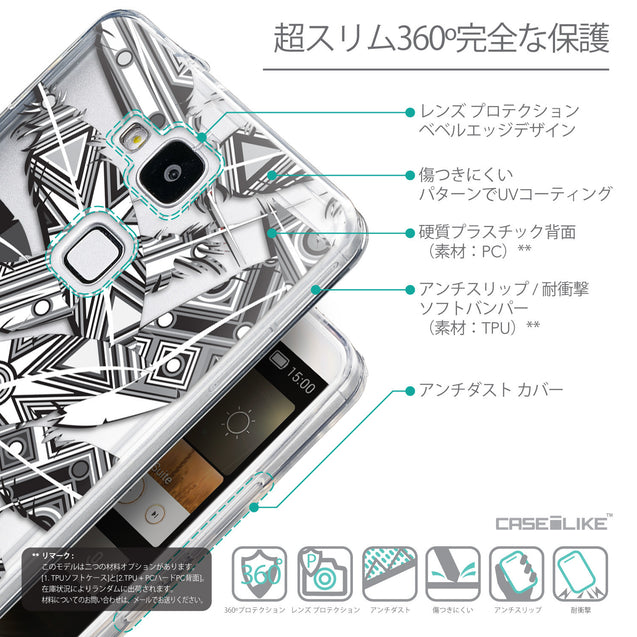 Details in Japanese - CASEiLIKE Huawei Ascend Mate 7 back cover Indian Tribal Theme Pattern 2056