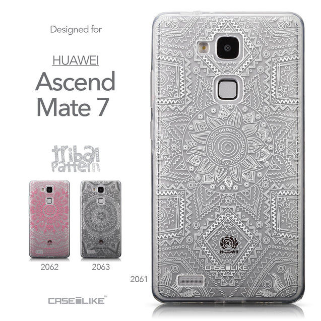 Collection - CASEiLIKE Huawei Ascend Mate 7 back cover Indian Line Art 2061