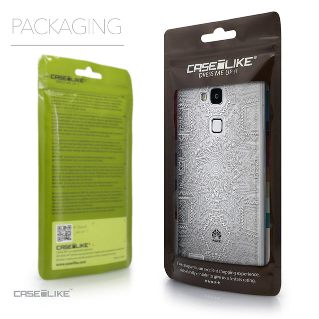 Packaging - CASEiLIKE Huawei Ascend Mate 7 back cover Indian Line Art 2061